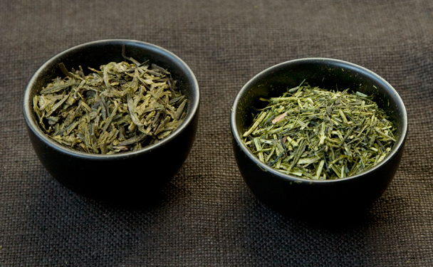Chinese and Japanese green teas