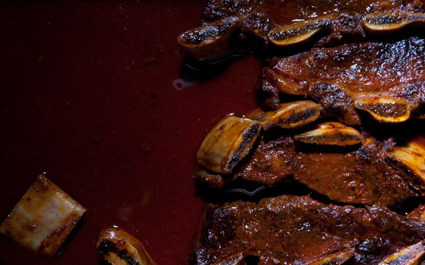 Short Ribs with Coffee Ancho Sauce
