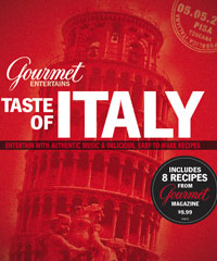 <em>Gourmet</em> ENTERTAINS CD + RECIPES