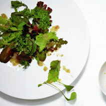 Wilted Greens with Warm Sherry Vinaigrette