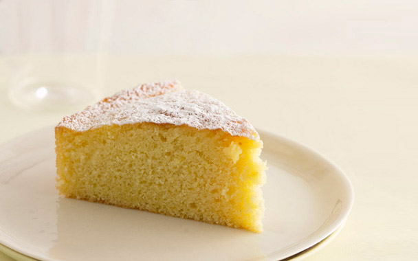 lemon-glazed butter cake